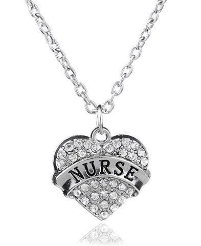 Nurse Heart Pendant Necklace