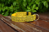 Dog Collar, Light Up Leopard Pattern.