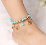 Anklet 2017 Flower Beads Ankle Bracelet Set Jewelry