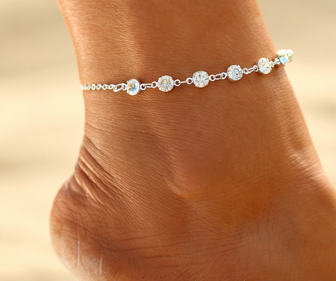 Anklet 2017 Fashion Imitation Pearl Crystal Ankle Bracelet Jewelry, - FREE + Shipping PROMOTION