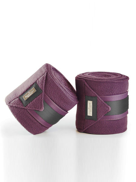 Equestrian Stockholm Plum Fleece Bandages Canada