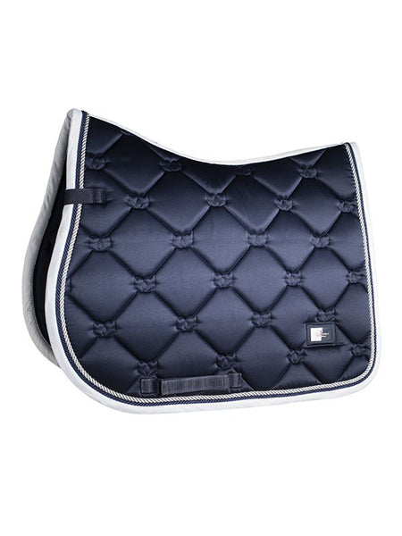 Equestrian Stockholm Midnight White Edge Saddle Pad Canada