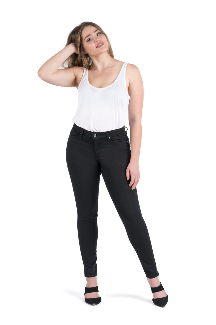 Dakota High Rise Skinny | Saturated Black