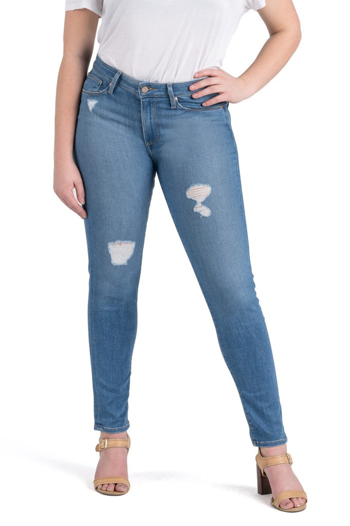 Dakota High Rise Destroyed Skinny | Light Wash