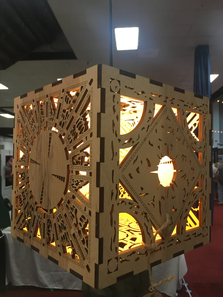 Hellraiser Lament Cube - Hanging Light - Etch Pros.. Laser Craft Studios