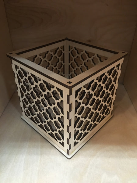 Moroccan Pattern 2 - Pillar Candle Holder - Etch Pros.. Laser Craft Studios