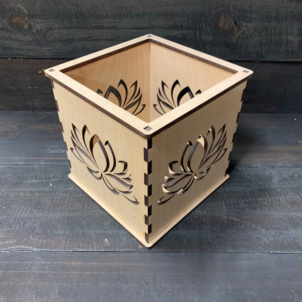 Lotus Outline - Pillar Candle Holder