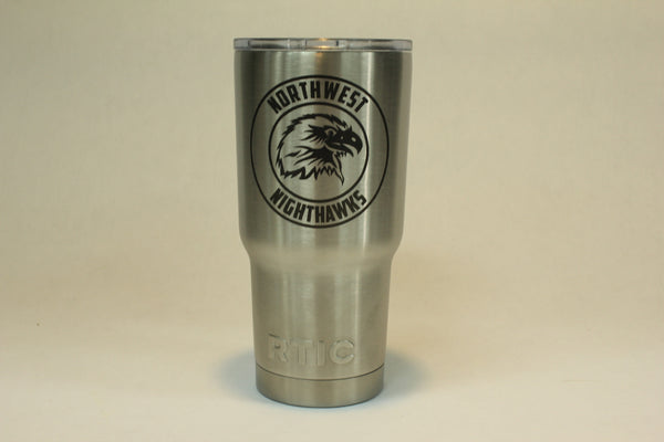 Northwest Elementary -  20oz Custom Etched RTIC Tumbler - Etch Pros.. Laser Craft Studios