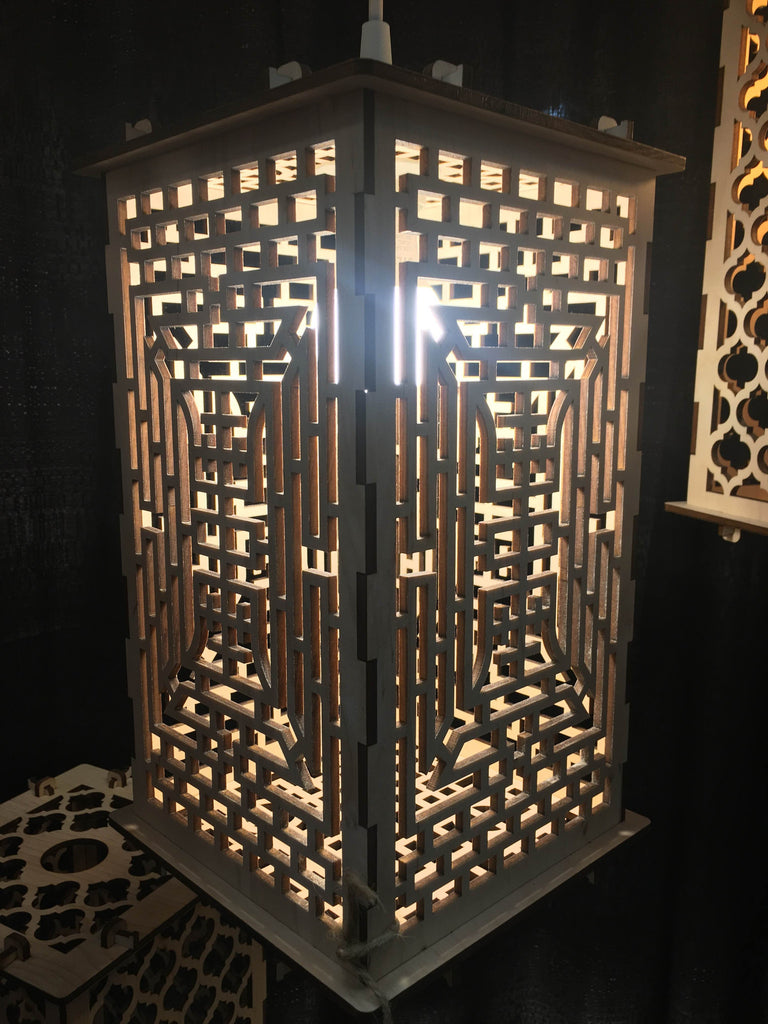 Asian Patterned Lantern - Etch Pros.. Laser Craft Studios