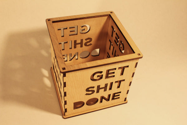 Get (sh)it Done - Candle Holder - Etch Pros.. Laser Craft Studios