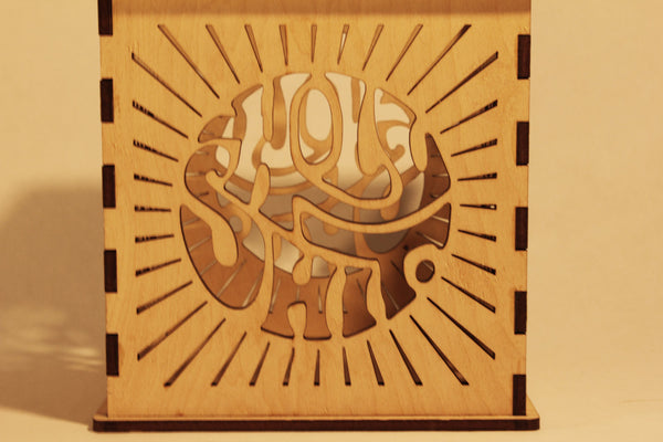 Holy Sh*t - Candle Holder - Etch Pros.. Laser Craft Studios
