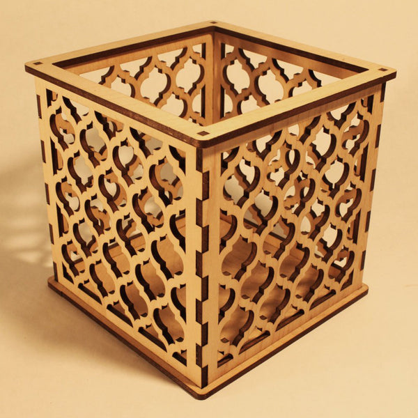 Moroccan Trellis Quatrefoil - Pillar Candle Holder