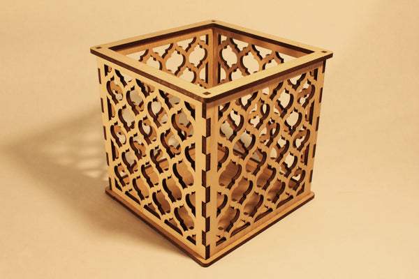 Moroccan Pattern 1 - Candle Holder - Etch Pros.. Laser Craft Studios