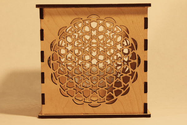 Mosaic Star - Candle Holder - Etch Pros.. Laser Craft Studios
