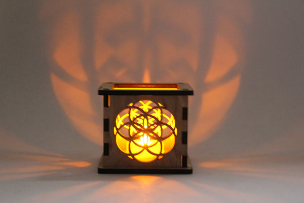Seed of Life - Tea Light Holder - Etch Pros.. Laser Craft Studios
