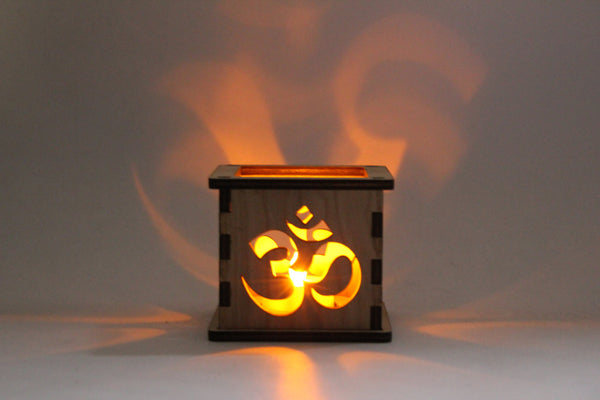 Om Symbol - Tea Light Holder - Etch Pros.. Laser Craft Studios