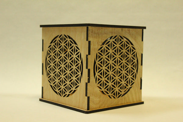 Flower of Life - Candle Holder - Etch Pros.. Laser Craft Studios
