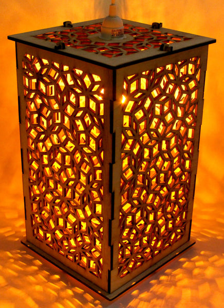 Penrose Patterned Lantern - Etch Pros.. Laser Craft Studios