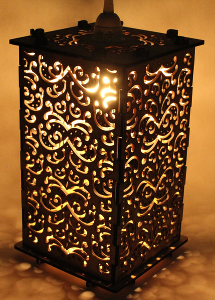 Filigree Patterned Lantern - Etch Pros.. Laser Craft Studios
