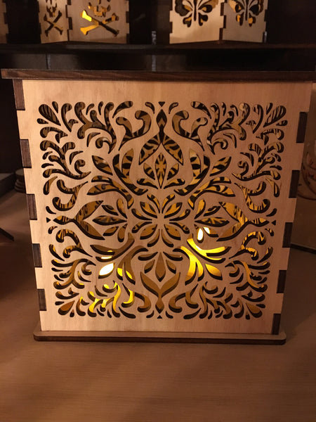 Art Nouveau - Pillar Candle Holder - Etch Pros.. Laser Craft Studios