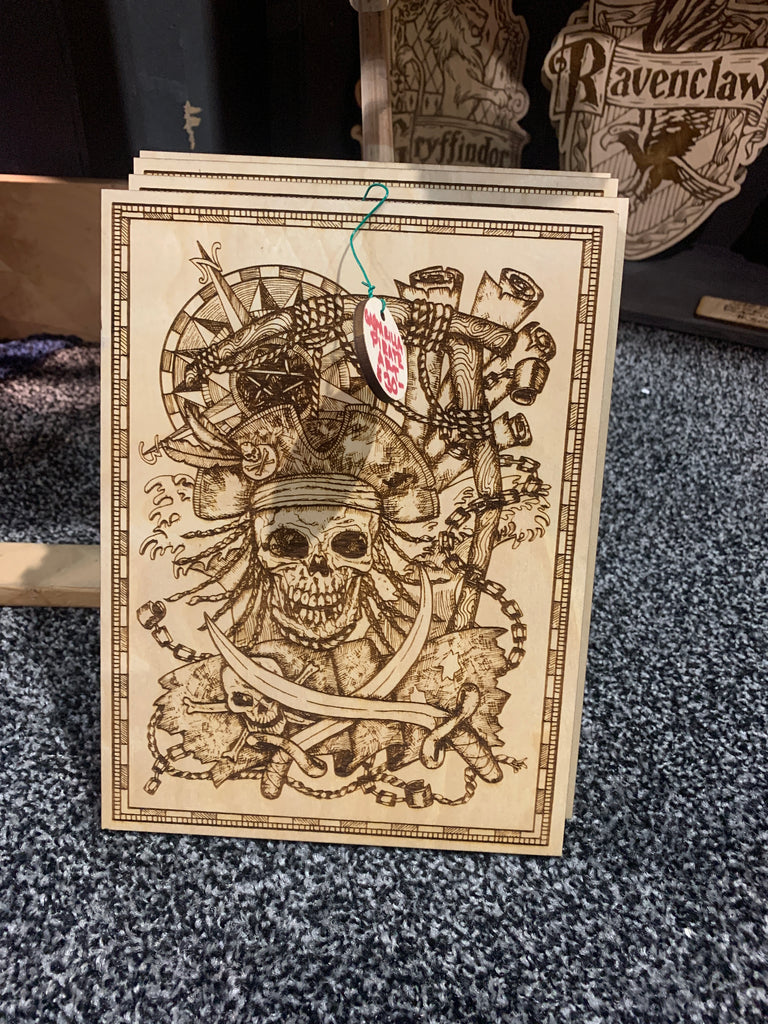 Small pirate etching - Etch Pros.. Laser Craft Studios