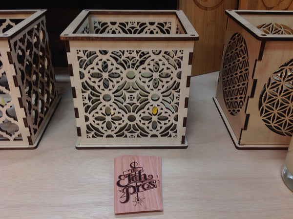 Gothic Throne Room - Pillar Candle Holder - Etch Pros.. Laser Craft Studios
