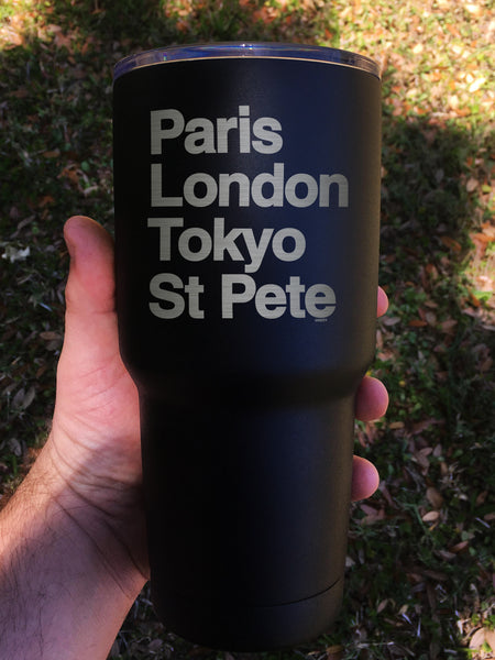 """World Tour"" Tumbler - Etch Pros.. Laser Craft Studios"
