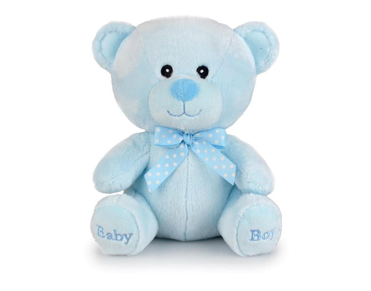 Blue Teddy Bear with Bow Tie (20cm)