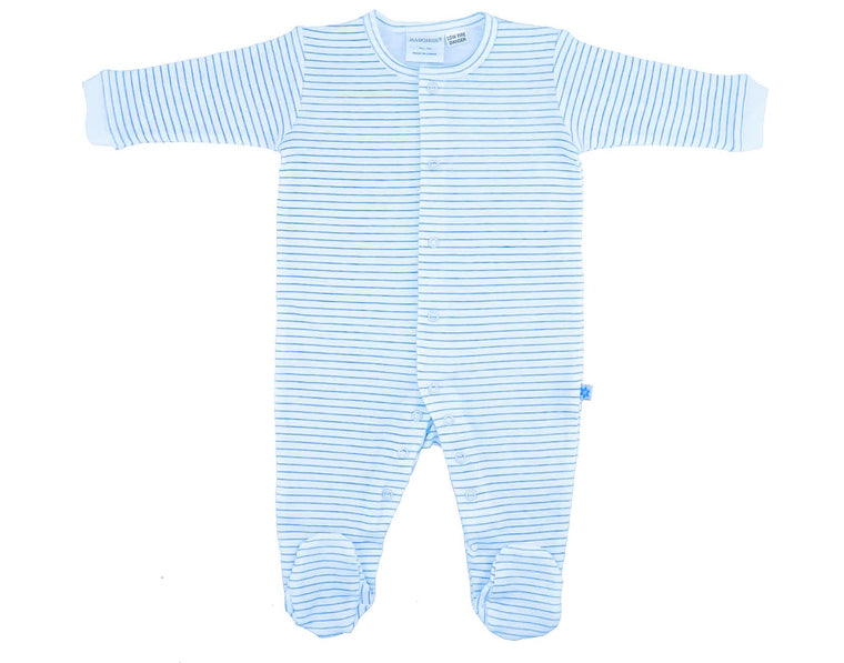 Marquise Blue Stripes Studsuit (Size 3-6m)