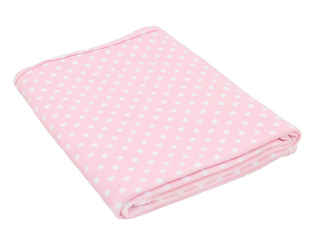 Pink Spotted Stretch Swaddle Wrap (100x100cm)