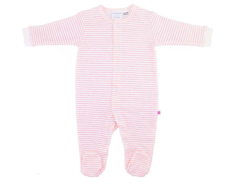 Marquise Pink Stripes Studsuit (Size 3-6m)
