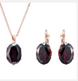 2017 Fashion Jewelry Set (Necklace & Earrings) Zircon Stones Perfect Gift For Any Occasion