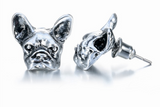 FREE Silver Plated Bull Dog Earrings, Just Pay Shipping