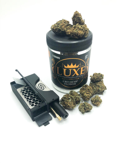 All in One Smokit 2 inch Black with 5g CBD Flower