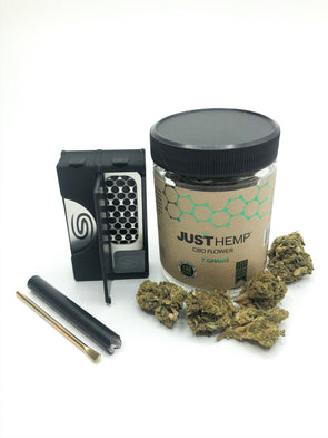 All in One Smokit 2 inch Black with 7g CBD Flower