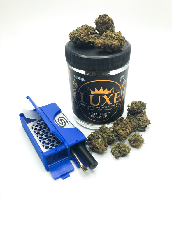All in One Smokit 2 inch Blue With 1.5g CBD Flower