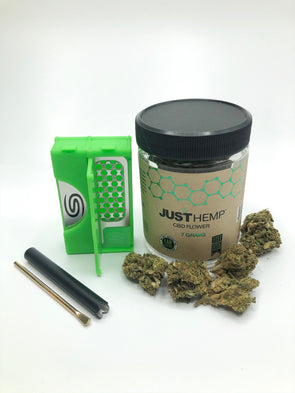All in One Smokit 2 inch Green with 7g CBD Flower