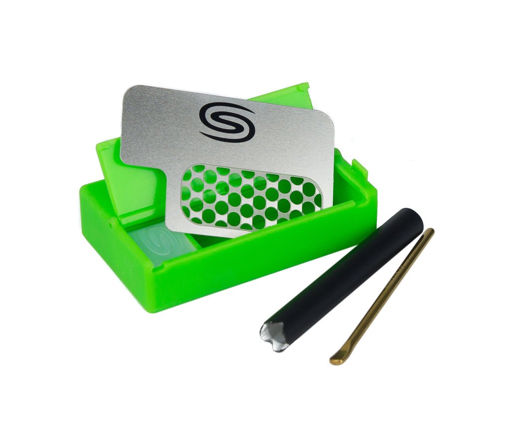 "Smokit 2"" Green with Metal Pipe"
