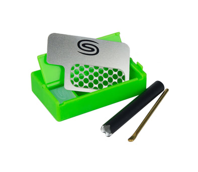 All in One Smokit 2 inch With Metal Pipe -  Green