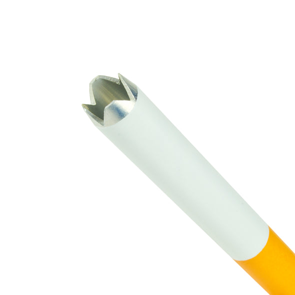 Cigarette one hitter / multi hitter with serrated edge