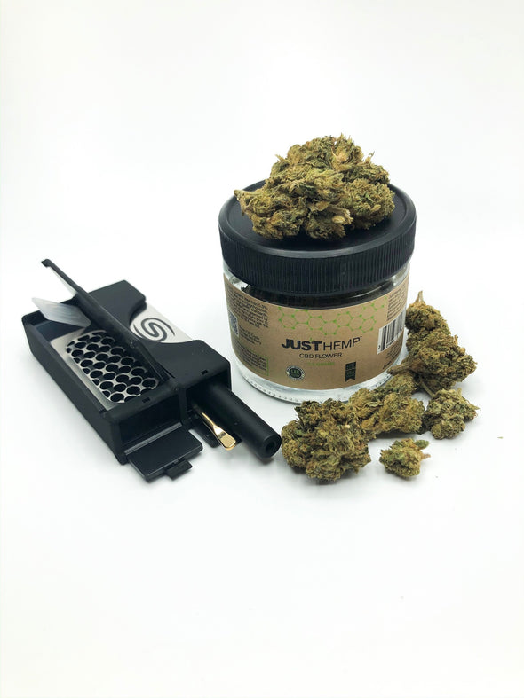 All in One Smokit 2 inch Black with 3.5g CBD Flower