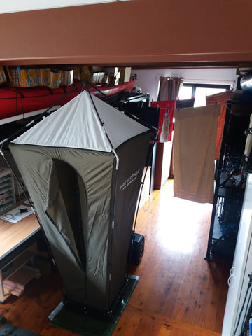 Shockloc Travel / Camping Clothesline / Washing Line is great to use indoors inside the house on rainy days