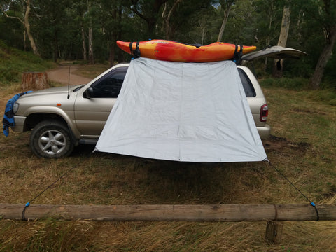 The Shockloc Tarp Tie allows you to set up & take down your tarp in seconds & can be attached to any size or shape object