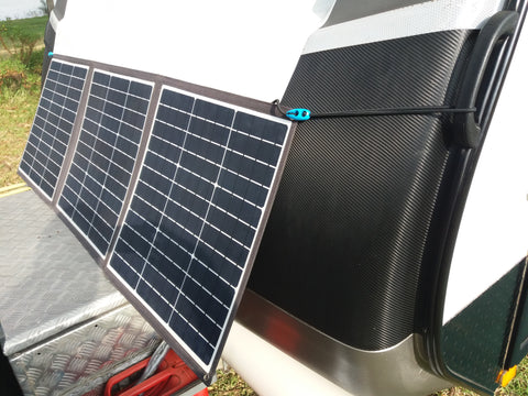 Shockloc Strap great for hanging solar panels / blankets