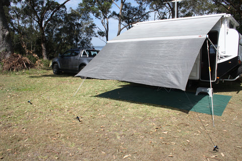 Shockloc Tarp Ties are fantastic for tying down shade screens / privacy screens