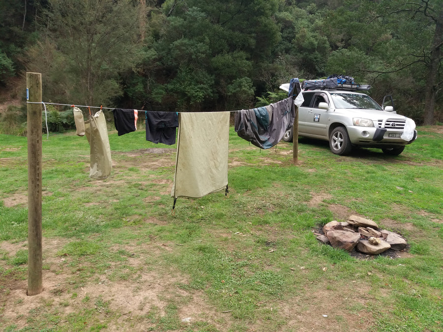 The Original Shockloc Travel Camping clothes line easily strung up anywhere