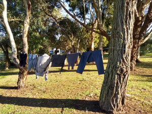 The Original Shockloc Travel Camping clothes line easily strung up between trees