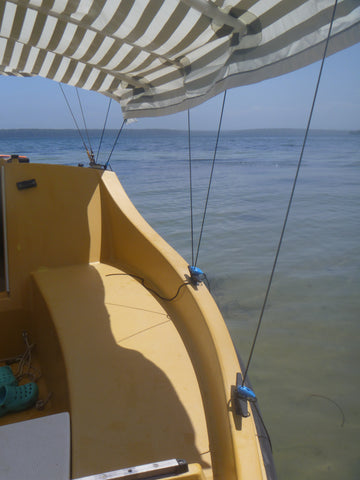 The Shockloc Tarp Tie is great around the boat & for awnings / shade cover /screens