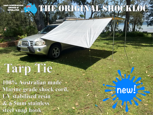 Shockloc shock cord bungee bungy fully adjustable tarp tie, tarp ties, forget non adjustable ball type tarp ties, perfect for tarp, cargo net, privacy screen, anti flap strap, awning