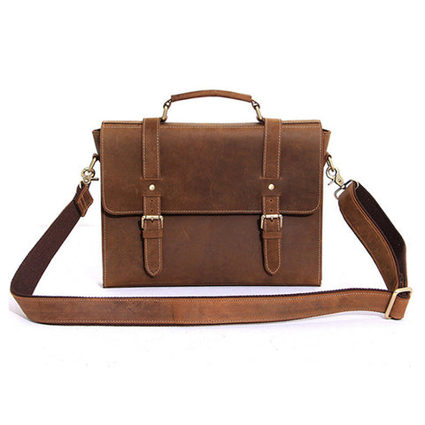 Full Grain Leather Briefcase Bag